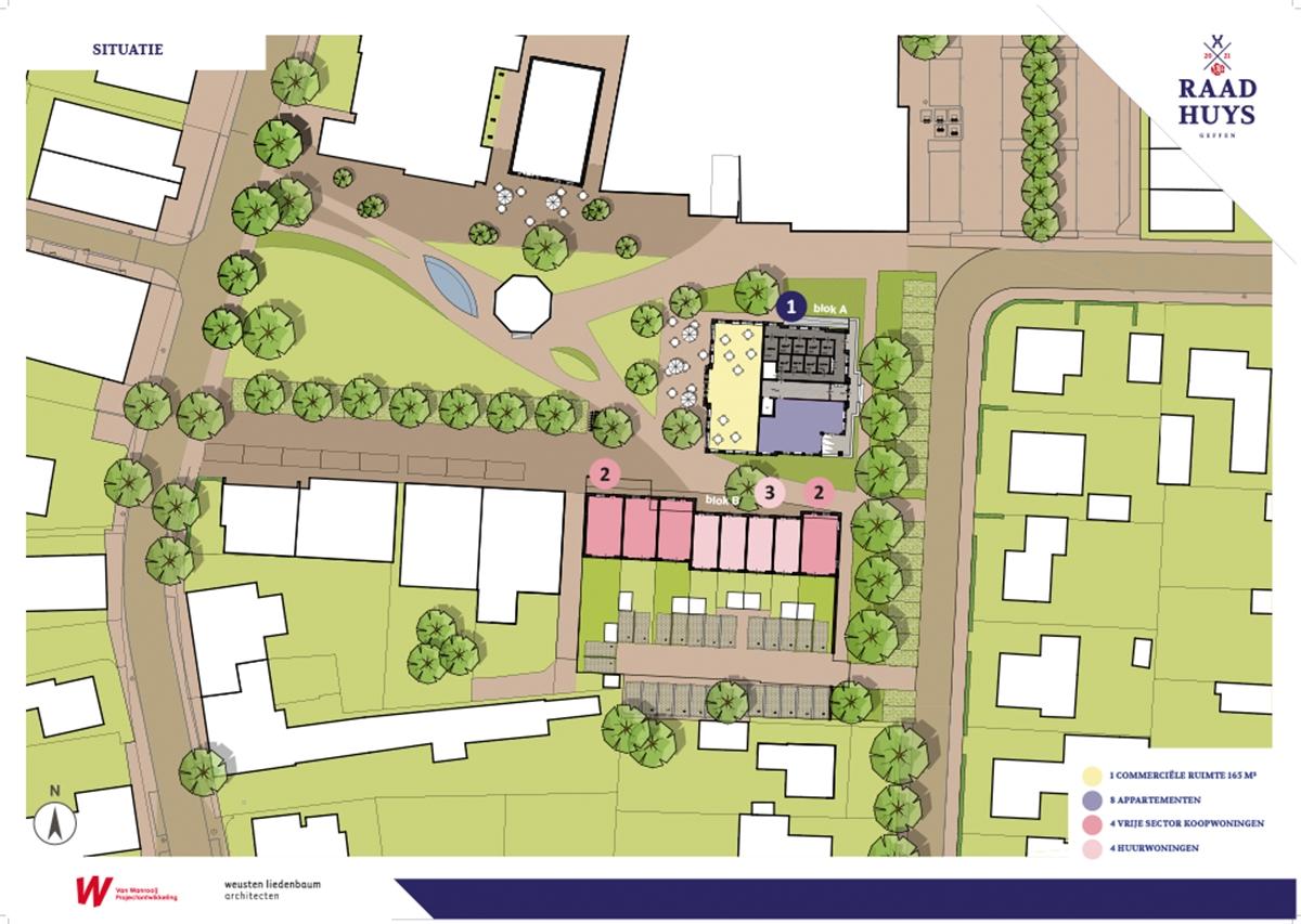 Geffen Raadhuys Panelen Plangebied plattegrond